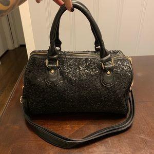 Deux Lux all over black sequin purse